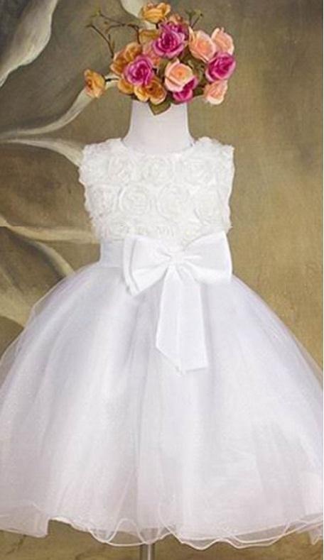 36f6f160a01e Spoločenské detské biele šaty 2