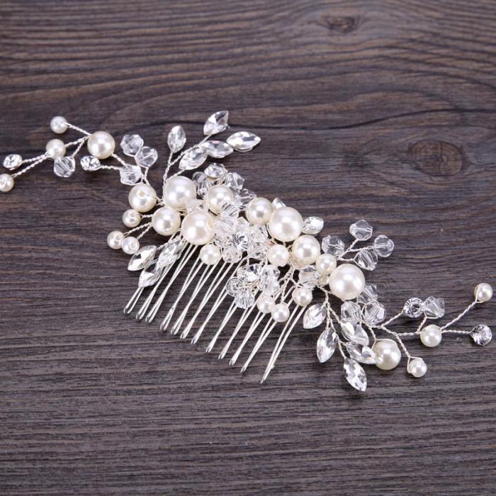 9695b94c3 Hrebienok do vlasov PEARL FLOWER | svadobne-ozdoby.sk - hrebienky a ...