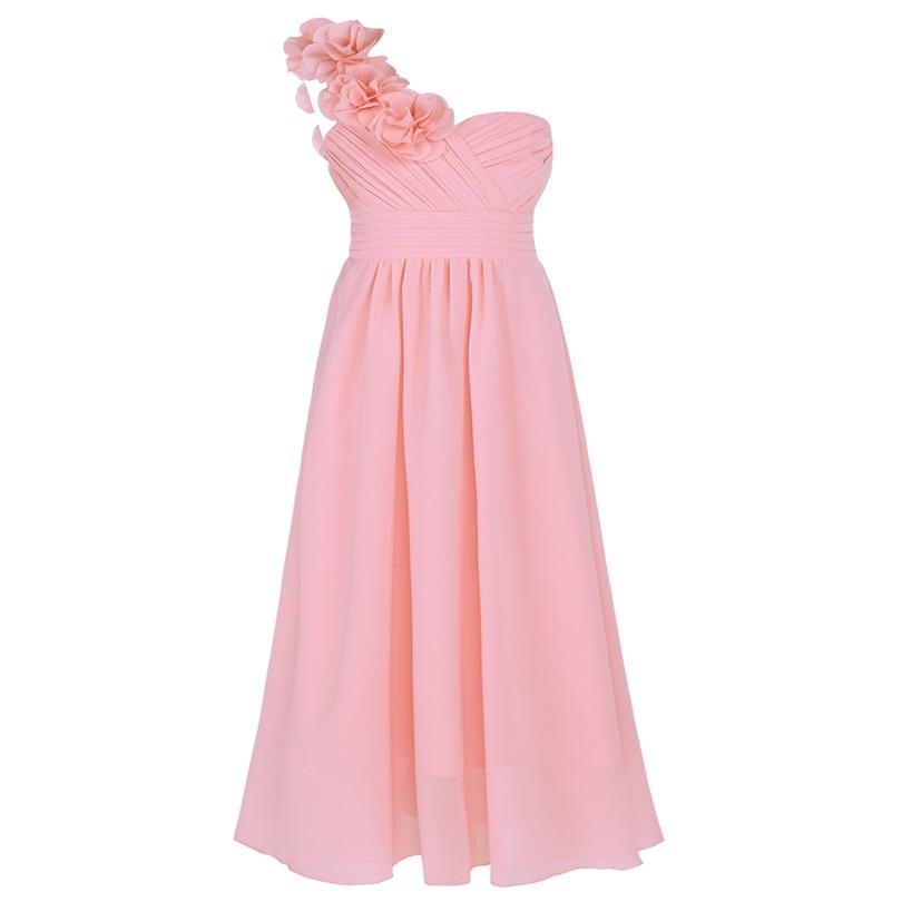 037bb50be780 Dievčenské spoločenské šaty cez rameno-ružové