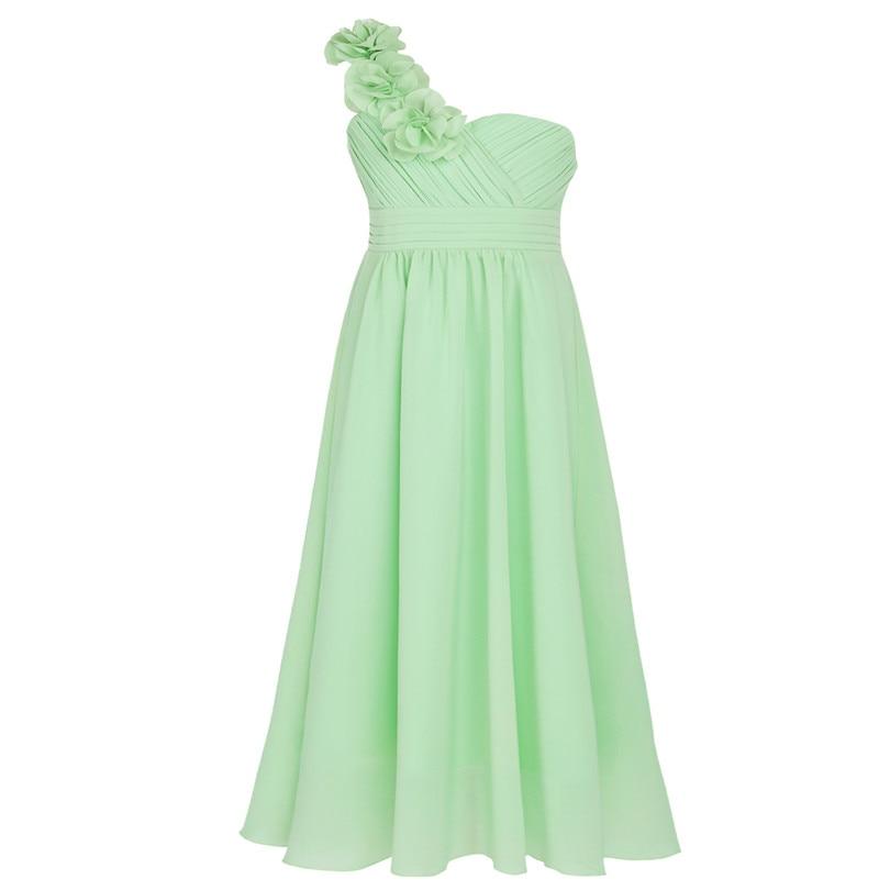09b97c834d02 Dievčenské spoločenské šaty cez rameno - zelenkavej